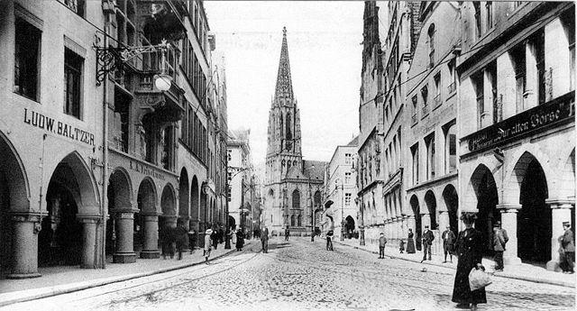Blick auf den Prinzipalmarkt um 1900